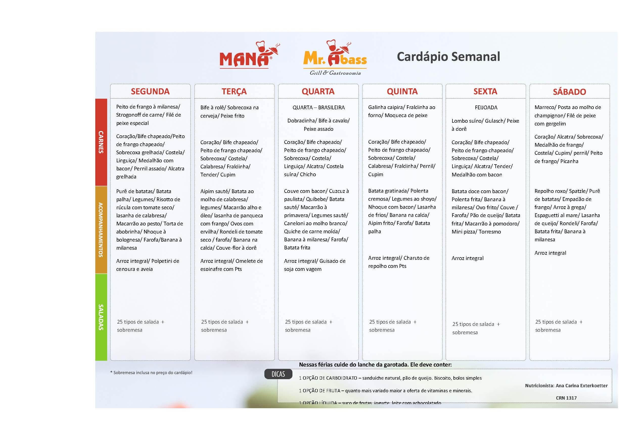 Como Montar Um Card Pio Semanal Para Seu Restaurante Blog Do