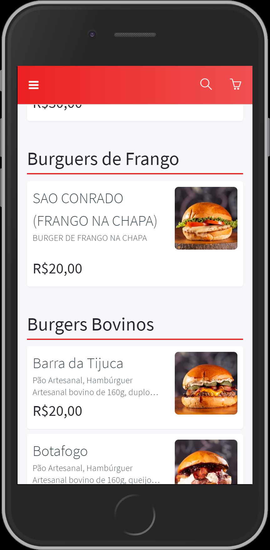 cardápio carioca burger