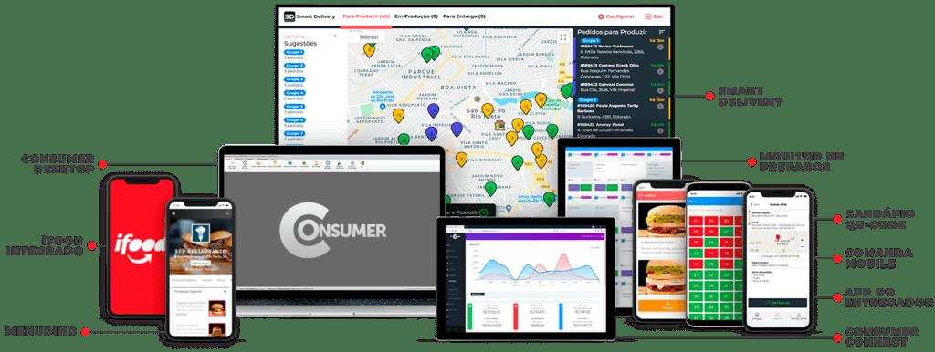 como configurar o app do entregador com todas as integrações