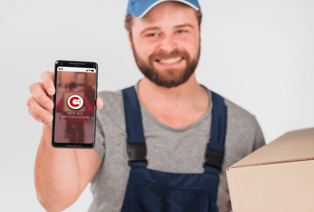 configurar app do entregador para entregas rápidas