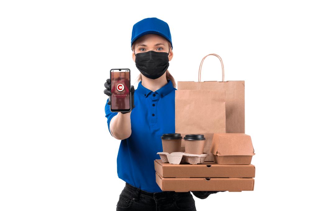 sistema para hamburgueria app para o entregador
