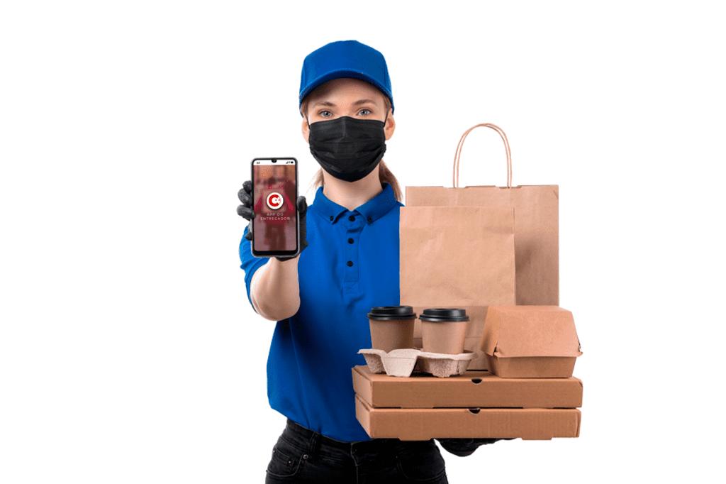 sistema para pastelaria app do entregador
