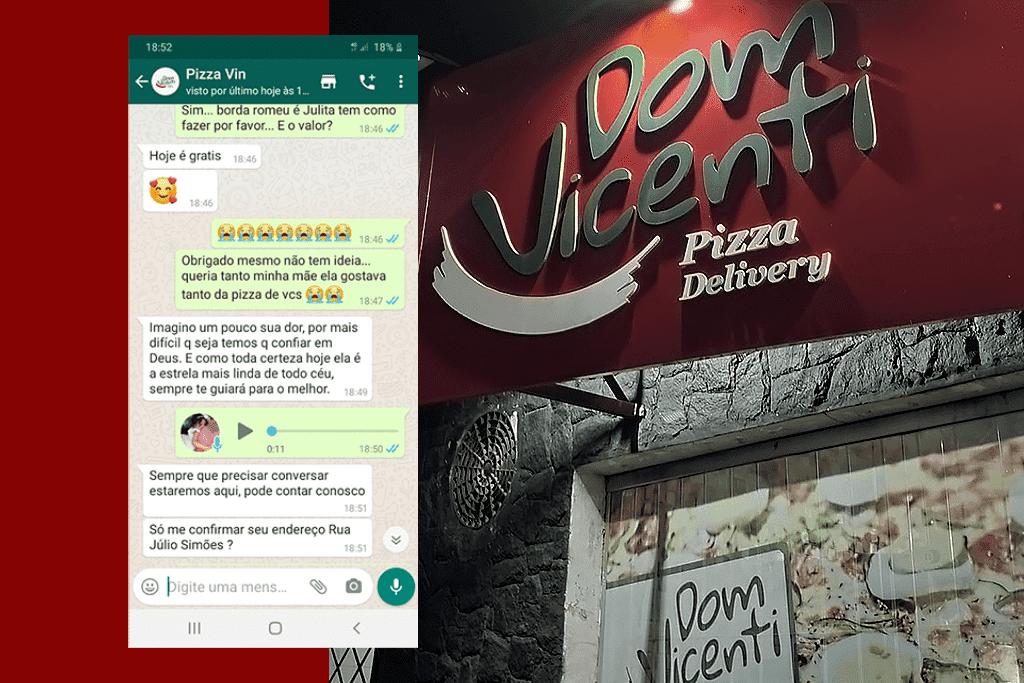Atendente de Delivery de Pizza Emociona Cliente que Perdeu Mãe para Covid